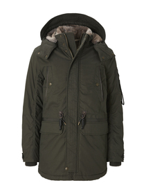 padded parka with fur details