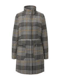 check zipper coat