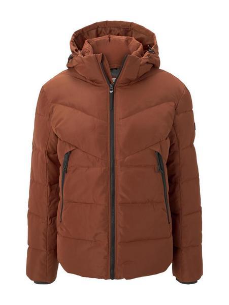 Heavy puffer jacket - 13054/Goji Orange