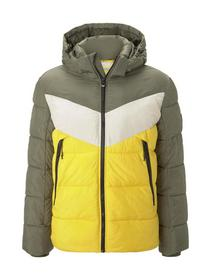 Heavy puffer jacket - 24997/tri color colorblock