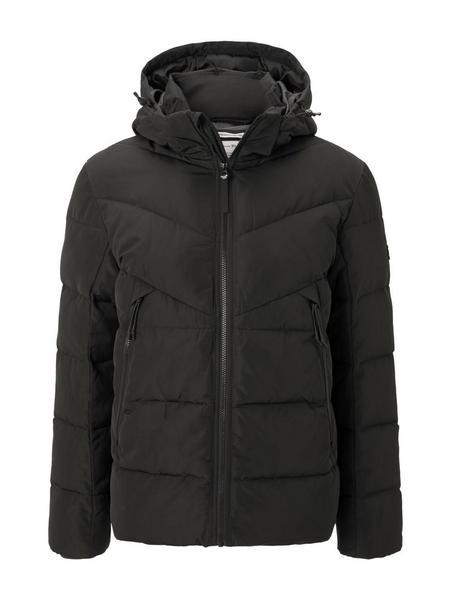 heavy puffer jacket, Black