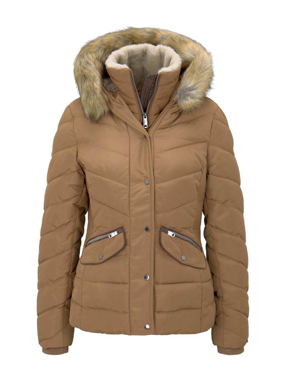 signature puffer jacket - 24781/light chestnut