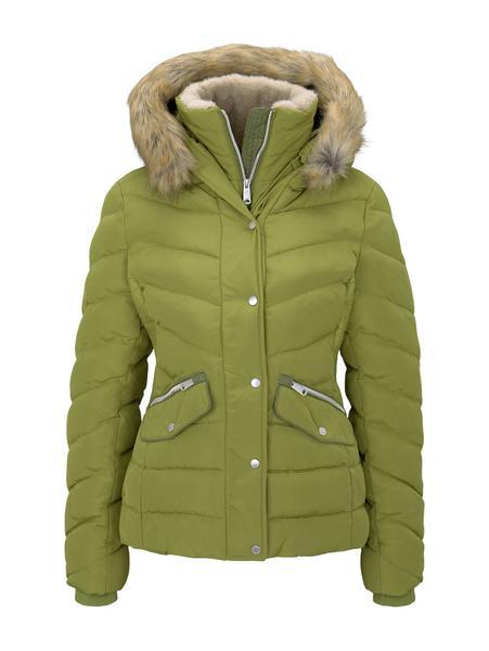 signature puffer jacket - 19651/wood green