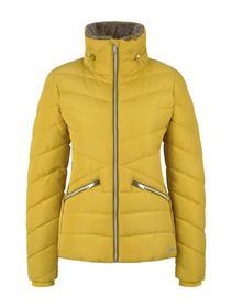 winterly puffer jacket, california sand yellow