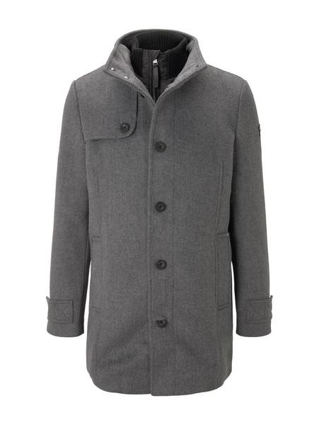 wool coat NOS, Mid Grey Wool Jacket Structure