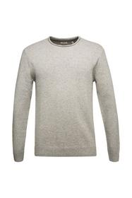 Recycelter Woll-Mix: melierter Pullover