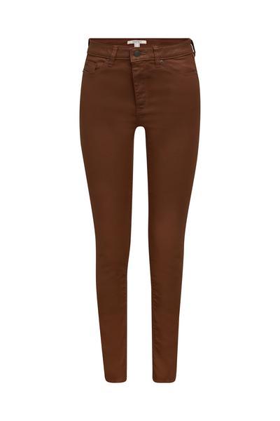 Beschichtete Jersey-Hose aus Woll-Mix