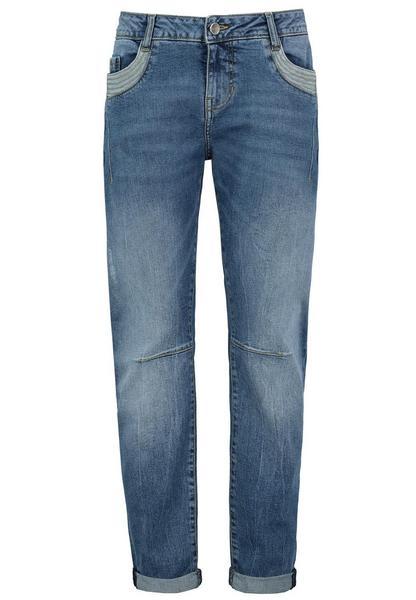 DOB Denim,5-pocket, O-shape, Aufschlag,Zip fly, Abnäher an Vorderhose, Einsatz an Taschenmit Mehrfachsteppung