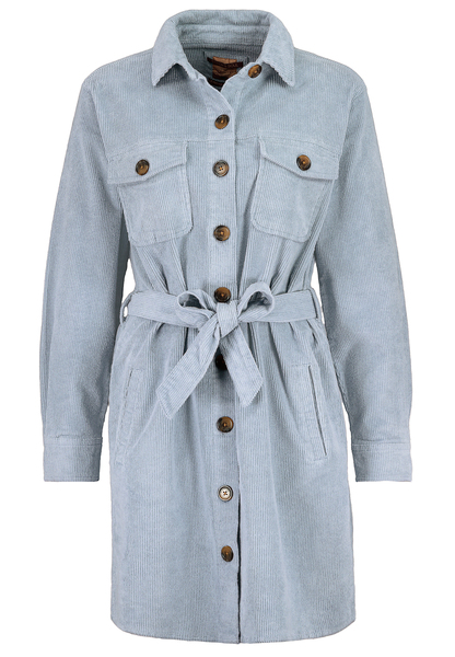 DOB Mantelkleid, aufgesetzteBrustklappentaschen, Knopfleiste, Leistentaschen,Gürtel in Taille, Hemdkragen,Bündchen, Rückenpasse
