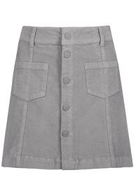DOB Kordrock,mini,Knopfleiste,Teilungsnähte, aufgesetzte Taschen vorn,Gürtelschlaufen