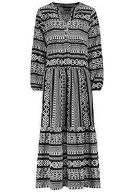 Kleid mit Volants,MAXI, lange Ärmel