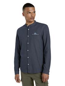 small patterned jacquard shirt - 24327/blue mini j