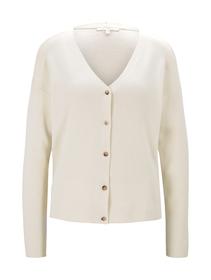 basic slub cardigan, soft creme beige
