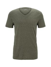 structured v-neck T-shirt