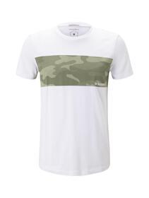 T-shirt with chestprint - 20000/White