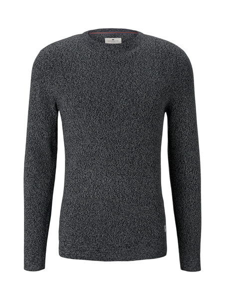 multi colored sweater, navy white mouline