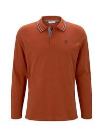 soft longsleeve polo - 10717/Ginger Orange