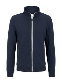 sweatjacket with material mix
