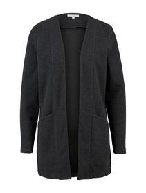 structured cardigan, Shale Grey Melange