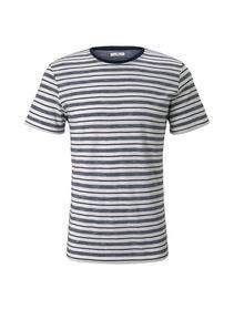 multi striped t-shirt - 16781/offwhite navy stripe