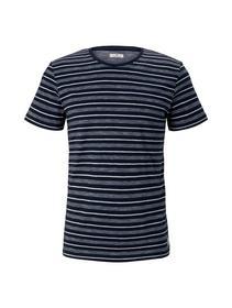 multi striped t-shirt - 11641/Blue Off White Strip