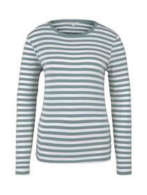 striped longsleeve, mineral white stripe
