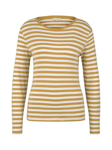 striped longsleeve, yellow white stripe