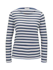 T-shirt striped crew-neck
