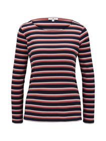 T-shirt striped crew-neck