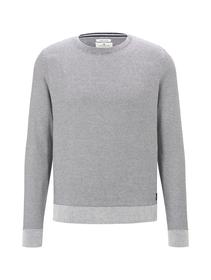 modern basic structure sweater - 14341/Light Mediu