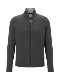 basic structured jacket - 10617/Black Grey Melange