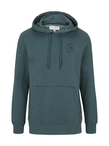 Hoody w. chest print, Deep Green Lake