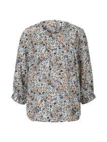 floral  balloon sleeve blouse, light flower print