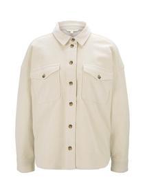 corduroy shirt with pockets, soft creme beige