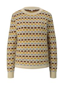 multicolor honeycomb pullover