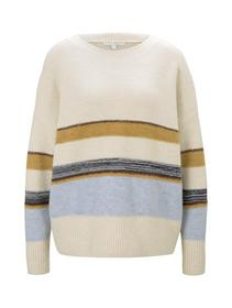 cozy striped pullover, creme stripe