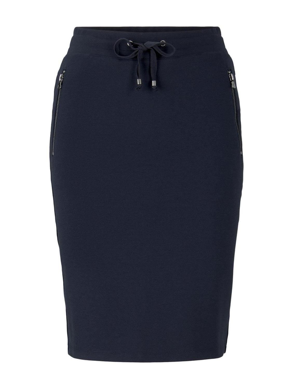 skirt jersey with zip details