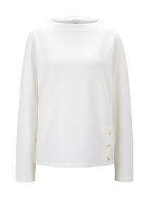 Sweatshirt button detail