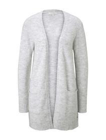 cozy basic cardigan, Marble Beige Melange