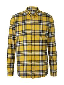 check shirt - 25258/mustard multicolor check