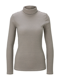 ribbed turtle neck, small navy creme stripe