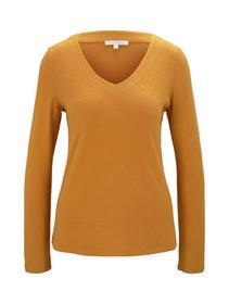 cosy brushed v-neck, orange yellow
