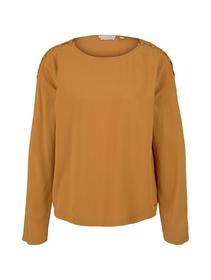 blouse with button details, orange yellow