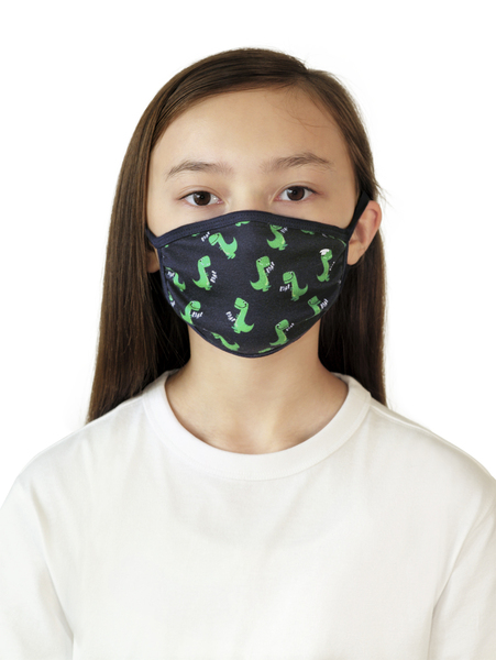 face mask kids - 10334/Black Iris Blue