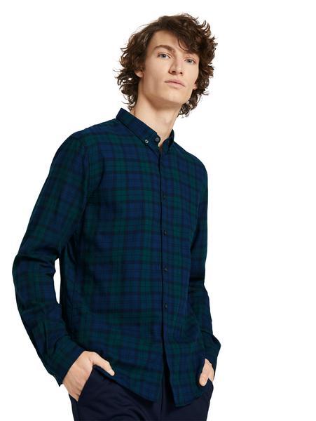 flanel shirt, blue green tartan check