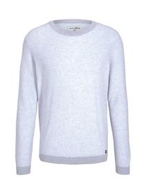 structured crewneck - 25481/grey white arc design
