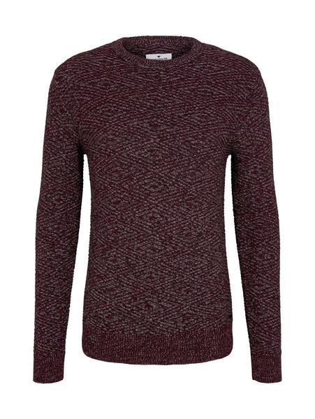 jacquard sweater, purple black grey mouline