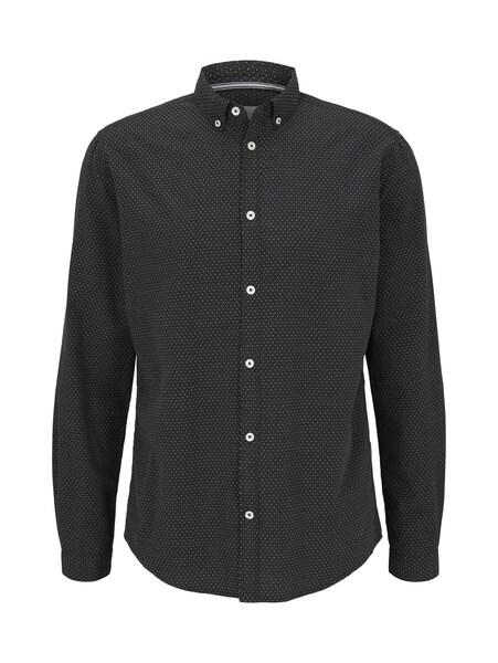regular two colour dobby shirt, black by burgundy white dobby