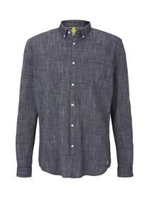 button down slub shirt
