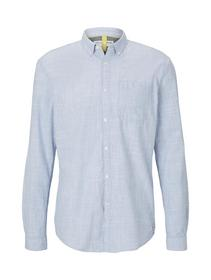 button down slub shirt - 10972/Blue Younder